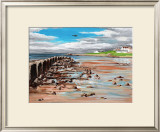 Low Flying over Lossiemouth West Beach Poster by Elise Ferguson