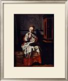 Jeune Fille Cousant Prints by Nicolas Maes