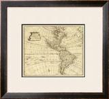America, c.1747 Framed Giclee Print by Emanuel Bowen