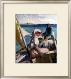Afternoon Sea Breeze Prints by Albert Edelfelt