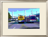 Hertz Avis, Los Angeles, California Framed Giclee Print by Steve Ash