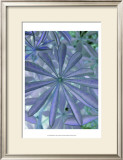 Woodland Plants in Blue I Print by Sharon Chandler