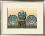 Porcelain in Teal I Prints by George Ashdown Audsley