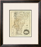Vermont, c.1795 Framed Giclee Print by Mathew Carey