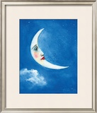 The Moon Framed Giclee Print by Nichola Moss