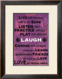 Live with Intention Prints by Marilu Windvand