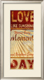 Love Like Sunshine Posters by Conrad Knutsen