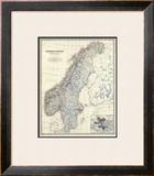 Sweden, Norway, c.1861 Framed Giclee Print by Alexander Keith Johnston