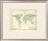 Alexander von Humboldt's System Der Isotherm-Kurven, c.1849 Framed Giclee Print by Heinrich Berghaus