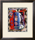 Blue Pump Framed Giclee Print by Dave Newman