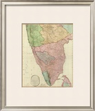 Composite: India Peninsula, c.1800 Framed Giclee Print by William Faden