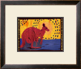 Woodblock Kangaroo Prints by Benjamin Bay