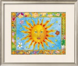 Sun and Moon Framed Giclee Print by Cora Yee