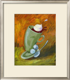 Dancing Coffee Framed Giclee Print by Nobu Haihara