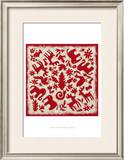 Folk Story in Red Prints by Chariklia Zarris