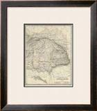 Austria East, c.1861 Framed Giclee Print by Alexander Keith Johnston