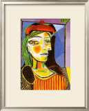Girl with Red Beret Prints by Pablo Picasso