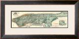 Sanitary and Topographical Map of the City and Island of New York, c.1865 Framed Giclee Print by Egbert L. Viele