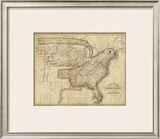 Eagle Map of the United States, c.1833 Framed Giclee Print by Joseph And James Churchman