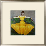 Lady in Yellow, c.1899 Print by Maximilian Kurzweil