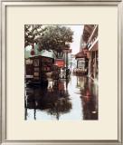 Sidewalk in Rain Poster by Zeny Cieslikowski