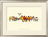 Bird Menagerie I Posters by Wendy Russell