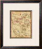 North America, c.1816 Framed Giclee Print by Bradford Scott