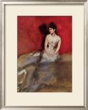 Portrat der Frau des Kunstlers Poster by Albert Keller