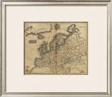 Europe, c.1825 Framed Giclee Print by Mathew Carey