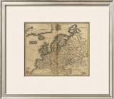 Europe, c.1825 Framed Giclee Print by Mathew Carey