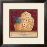 Ginger Jar and Lavender Print by Gloria Eriksen
