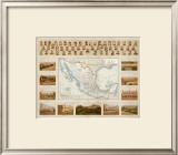 Carta Politica, c.1885 Framed Giclee Print by Antonio Garcia Cubas