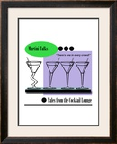 Martini Crowd Framed Giclee Print by Bradly Bowden