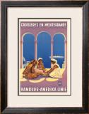 Hamburg Amerika Linie, Croisieres en Mediterranee Framed Giclee Print by Ottomar Anton