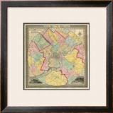 The City of Philadelphia, c.1847 Framed Giclee Print by J. C. Sidney