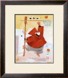 Papy Pechou au Basket Poster by Hubert Rublon