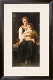 Two Sisters Art by William Adolphe Bouguereau