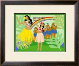 Hula Girls in Paradise Island, Hawaii Prints by Noriko Sakura