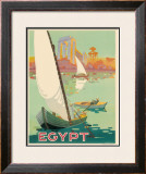 Egyptian State Tourist Department Framed Giclee Print by H. Hashim