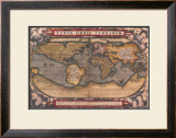 Old World Map II Poster by Abraham Ortelius