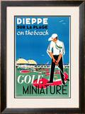 Dieppe Mini Golf Poster by Oliver Gambier