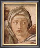 Delphic Sibyl Art by  Michelangelo Buonarroti