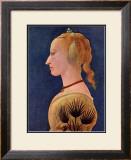Portrait einer Dame in Gelb Posters by Alesso Baldovinetti