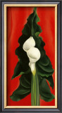 Calla Lilies on Red, 1928 Art by Georgia O'Keeffe