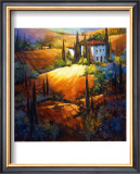 Morning Light Tuscany Poster by Nancy O'toole