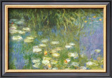 Water Lilies of the Orangerie as Giverny Print by Claude Monet