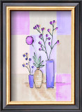 Floral with Modern Vases Poster by Josephine French