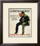 A Well-Earned Rest, 1930 Posters by Robert Beebe