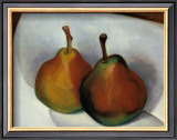 Two Pears, 1921 Art by Georgia O'Keeffe