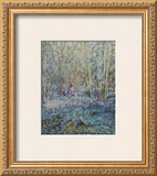 Painting Bluebells Print by Paula Nightingale